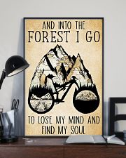 Into The Forest I Lose My Mind Cycling 11x17 Poster lifestyle-poster-2
