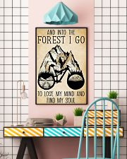 Into The Forest I Lose My Mind Cycling 11x17 Poster lifestyle-poster-6