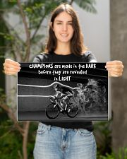 Cycling Champions Are Made In 17x11 Poster poster-landscape-17x11-lifestyle-19