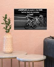Cycling Champions Are Made In 17x11 Poster poster-landscape-17x11-lifestyle-21