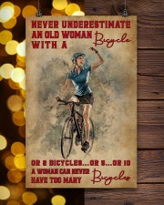 Cycling Never Underestimate An Old Women 11x17 Poster aos-poster-portrait-11x17-lifestyle-24