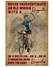 Cycling Never Underestimate An Old Women 11x17 Poster front