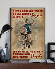 Cycling Never Underestimate An Old Women 11x17 Poster lifestyle-poster-2