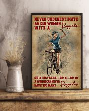 Cycling Never Underestimate An Old Women 11x17 Poster lifestyle-poster-3
