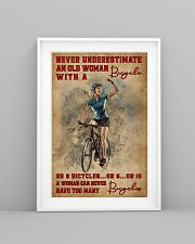Cycling Never Underestimate An Old Women 11x17 Poster lifestyle-poster-5