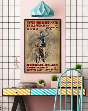 Cycling Never Underestimate An Old Women 11x17 Poster lifestyle-poster-6