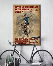 Cycling Never Underestimate An Old Women 11x17 Poster lifestyle-poster-7