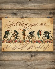Cycling God Says You Are 17x11 Poster aos-poster-landscape-17x11-lifestyle-14