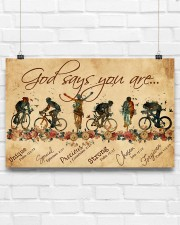 Cycling God Says You Are 17x11 Poster aos-poster-landscape-17x11-lifestyle-17
