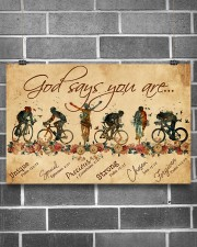 Cycling God Says You Are 17x11 Poster aos-poster-landscape-17x11-lifestyle-18