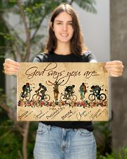 Cycling God Says You Are 17x11 Poster poster-landscape-17x11-lifestyle-19