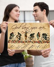Cycling God Says You Are 17x11 Poster poster-landscape-17x11-lifestyle-20