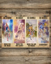 Cycling Be Strong 17x11 Poster aos-poster-landscape-17x11-lifestyle-14