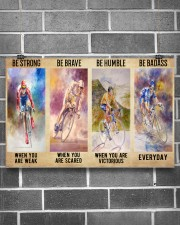 Cycling Be Strong 17x11 Poster aos-poster-landscape-17x11-lifestyle-18