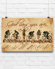 Cycling God Says You Aree 17x11 Poster aos-poster-landscape-17x11-lifestyle-17