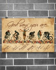 Cycling God Says You Aree 17x11 Poster aos-poster-landscape-17x11-lifestyle-18