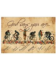 Cycling God Says You Aree 17x11 Poster front