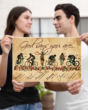 Cycling God Says You Aree 17x11 Poster poster-landscape-17x11-lifestyle-20