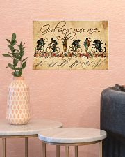 Cycling God Says You Aree 17x11 Poster poster-landscape-17x11-lifestyle-21