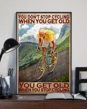 Cycling - You Get Old Vertical 11x17 Poster lifestyle-poster-2