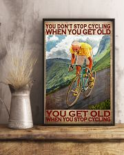 Cycling - You Get Old Vertical 11x17 Poster lifestyle-poster-3