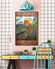 Cycling - You Get Old Vertical 11x17 Poster lifestyle-poster-6
