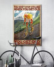 Cycling - You Get Old Vertical 11x17 Poster lifestyle-poster-7