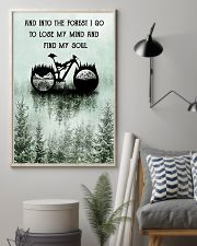 Into The Forest I Lose My Mind Cycling 11x17 Poster lifestyle-poster-1