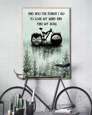 Into The Forest I Lose My Mind Cycling 11x17 Poster lifestyle-poster-7