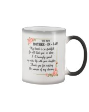 To My mother-in-law Color Changing Mug thumbnail