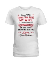 To my wife Thanks for being my wife Ladies T-Shirt thumbnail