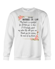 To My mother-in-law Crewneck Sweatshirt thumbnail