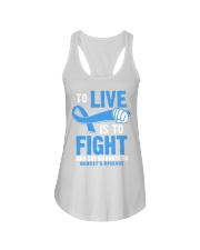 To Live Is To Fight Say Goodbye To Behcets Disease Ladies Flowy Tank thumbnail