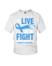 To Live Is To Fight Say Goodbye To Behcets Disease Youth T-Shirt thumbnail