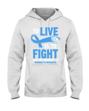 To Live Is To Fight Say Goodbye To Behcets Disease Hooded Sweatshirt thumbnail