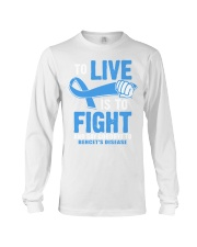 To Live Is To Fight Say Goodbye To Behcets Disease Long Sleeve Tee thumbnail