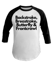 Swimming Time Baseball Tee front
