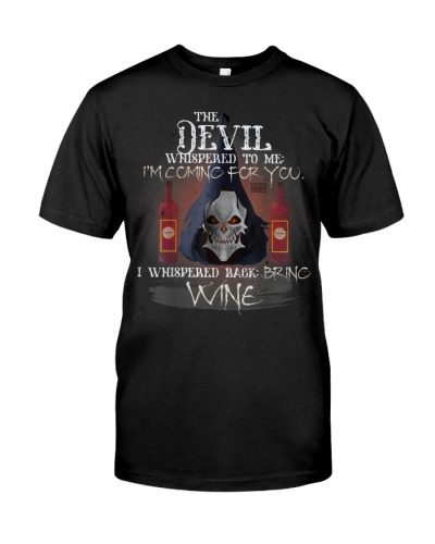 COOL GRUNGE WINE DEVIL WHISPERED BRING ALCOHOL T S