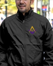 Blue Lodge Masonic Embroidery Jacket Lightweight Jacket garment-embroidery-jacket-lifestyle-02