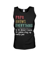 PAPA knows everything Unisex Tank thumbnail