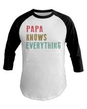 PAPA knows everything Baseball Tee thumbnail