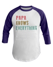PAPA knows everything Baseball Tee front