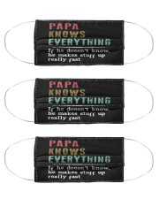 PAPA knows everything Cloth Face Mask - 3 Pack thumbnail