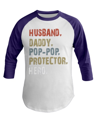 Husband Daddy Pop Pop Protector Hero - V2 Classic