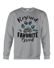 RESCUED IS MY FAVORITE BREED Crewneck Sweatshirt thumbnail