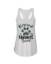 RESCUED IS MY FAVORITE BREED Ladies Flowy Tank thumbnail