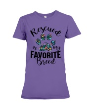 RESCUED IS MY FAVORITE BREED Premium Fit Ladies Tee thumbnail