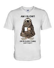 Am I Slow V-Neck T-Shirt tile