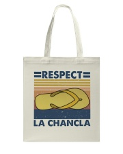 Respect A Chancla Tote Bag thumbnail