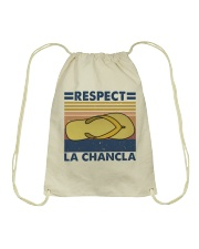 Respect A Chancla Drawstring Bag thumbnail